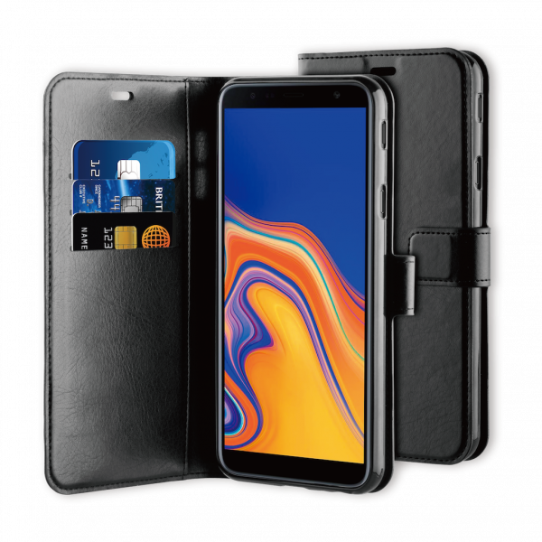 BeHello Samsung J4+ Hoesje - Gel Wallet Case Met Ruimte Voor 3 Pasjes Zwart