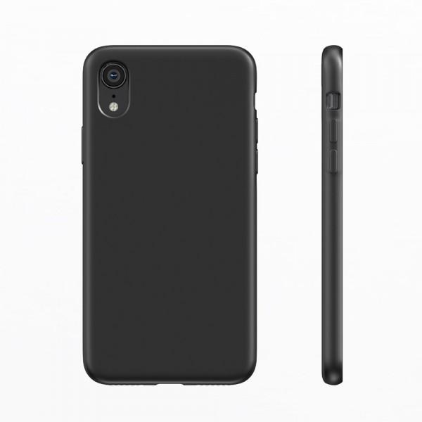 BeHello Premium Liquid Silicon Case Zwart voor iPhone Xr