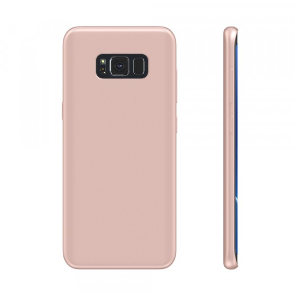 BeHello Premium Samsung Galaxy S8+ Hoesje Liquid Silicon Case Roze