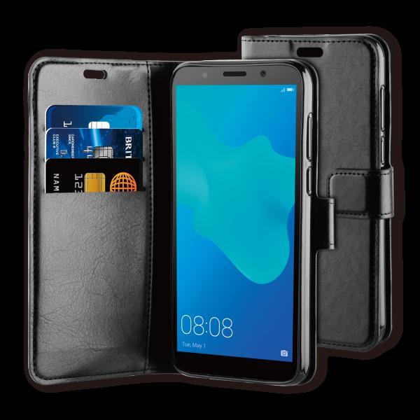 BeHello Huawei Y5 (2019) Hoesje - Gel Wallet Case Met Ruimte Voor 3 Pasjes Zwart