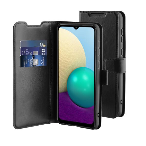 BeHello Samsung Galaxy A02 Gel Wallet Case Black