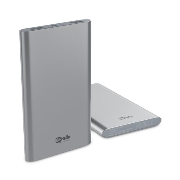 BeHello Powerbank 4000 mAh 2 USB Poorten Zilver 2,4 amp