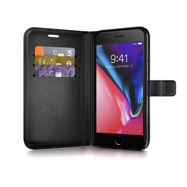 BeHello iPhone 8 Plus 7 Plus 6s Plus 6 Plus Hoesje - Gel Wallet Case Met Ruimte Voor 3 Pasjes - Z
