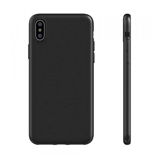 BeHello iPhone X XS ThinGel Siliconen Hoesje Zwart