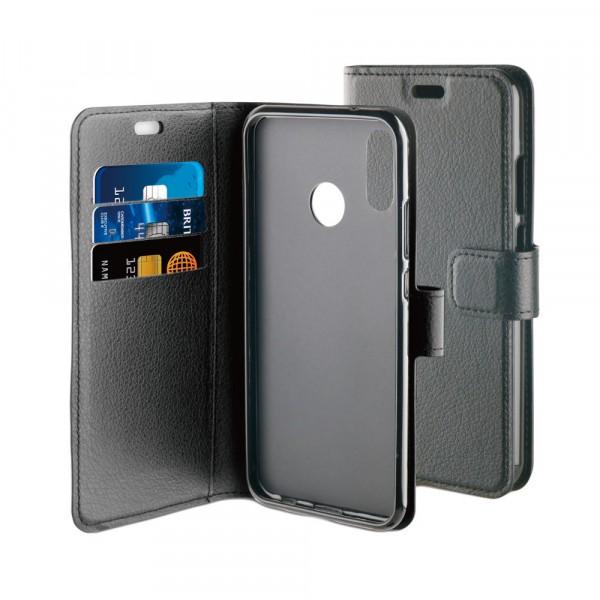 BeHello Gel Wallet Case Zwart voor Huawei P20 Lite