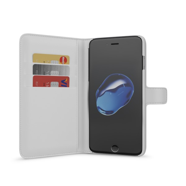 BeHello Wallet Case Wit voor iPhone 8 Plus 7 Plus 6s Plus 6 Plus