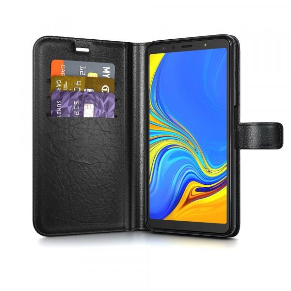 BeHello Samsung Galaxy A7 (2018) Hoesje - Gel Wallet Case Met Ruimte Voor 3 Pasjes Zwart