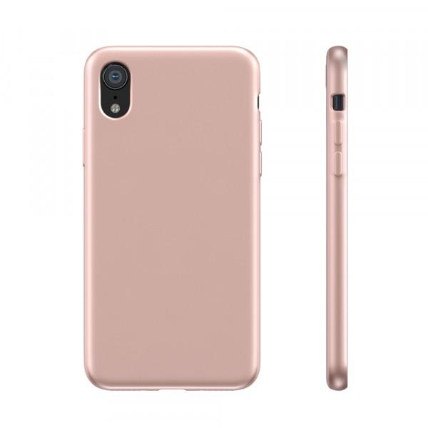 BeHello Liquid Silicon Case Roze voor iPhone Xr