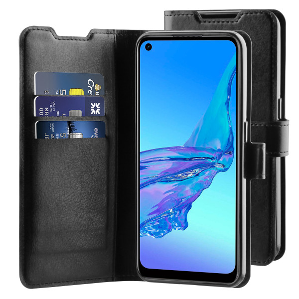 BeHello Oppo A53s Hoesje - Gel Wallet Case Met Ruimte Voor 3 Pasjes Zwart