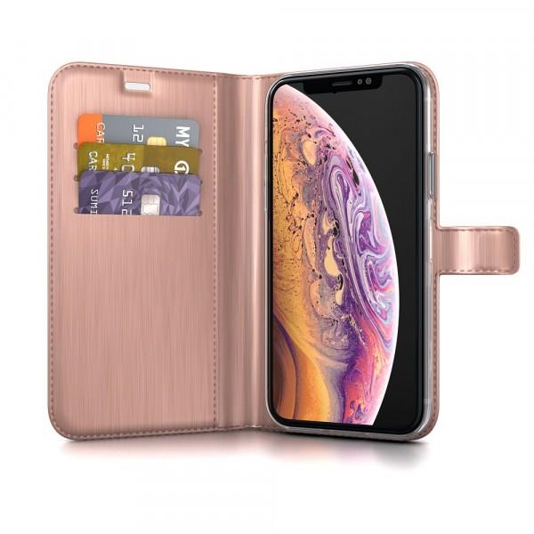 BeHello Gel Wallet Case Roze voor iPhone X Xs