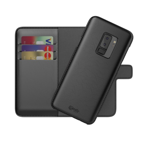 BeHello 2-in-1 Wallet Case Zwart voor Samsung Galaxy S9+