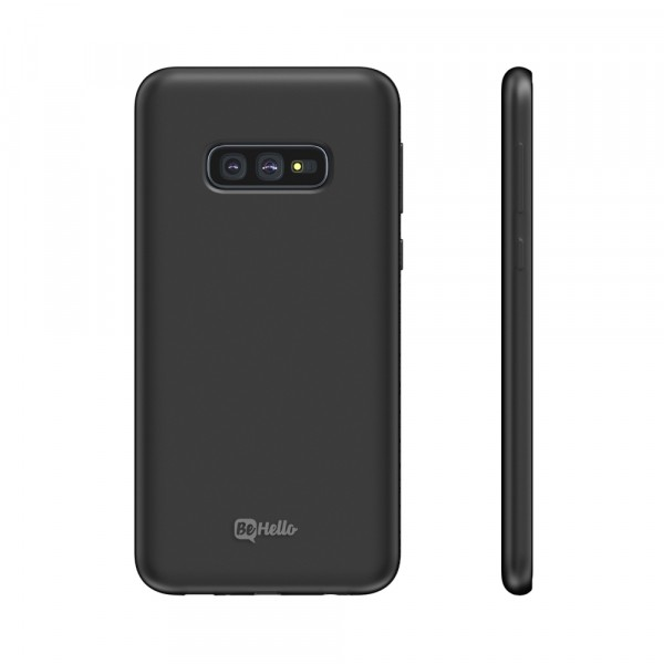 BeHello Premium Samsung Galaxy S10E Liquid Silicone Case Black