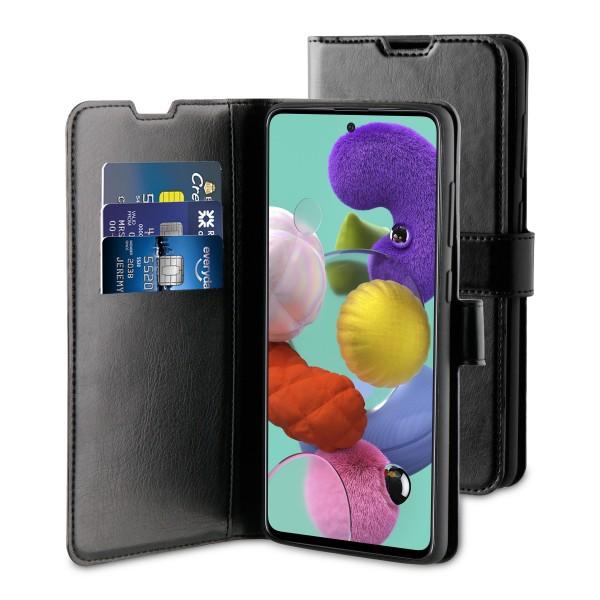 BeHello Samsung Galaxy A51 Hoesje - Gel Wallet Case Met Ruimte Voor 3 Pasjes Zwart