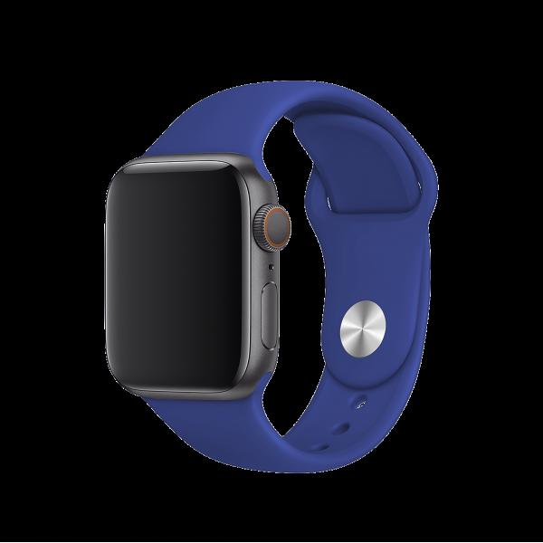 BeHello Siliconen Bandje voor 42/44 mm Apple Watch - Blauw