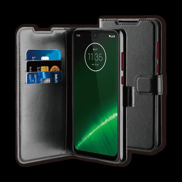 BeHello Motorola Moto G7 Plus Hoesje - Gel Wallet Case Met Ruimte Voor 3 Pasjes Zwart