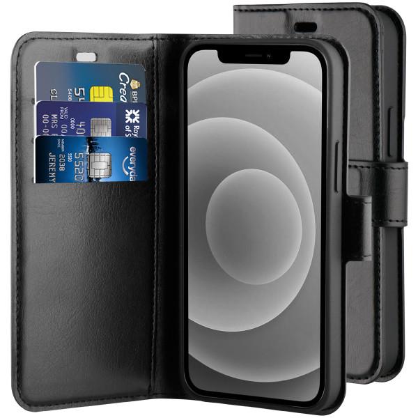 BeHello iPhone 12 mini Gel Wallet Case Zwart - Portemonneehoesje