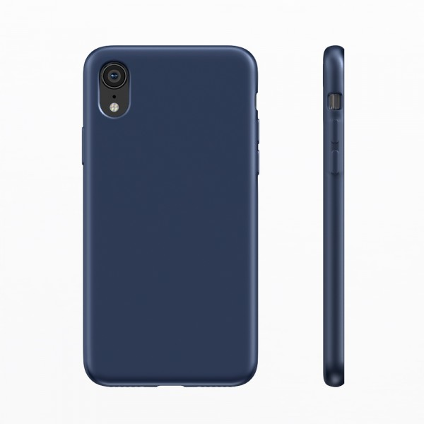 BeHello Liquid Silicon Case Blauw voor iPhone Xr