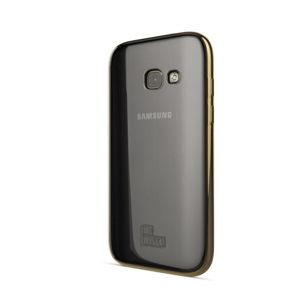 BeHello Samsung Galaxy A3 (2017) Gel Case Tranparent Chrome Edge Gold