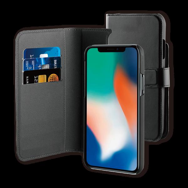 BeHello iPhone 11 Hoesje I 2-in-1 Wallet Case met Ruimte Voor 3 Pasjes Zwart