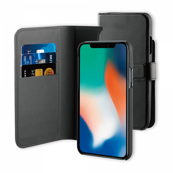 BeHello iPhone 11 Pro Hoesje I 2-in-1 Wallet Case met Ruimte Voor 3 Pasjes Zwart