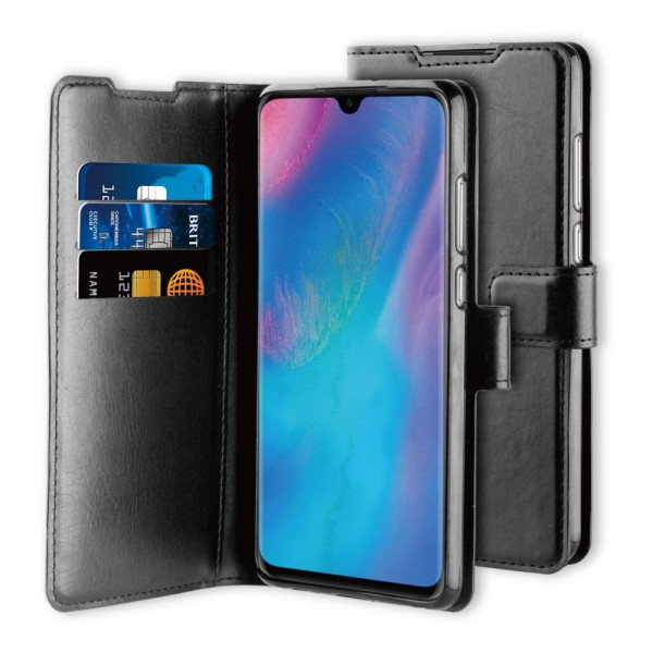BeHello Huawei P30 Gel Wallet Case Zwart