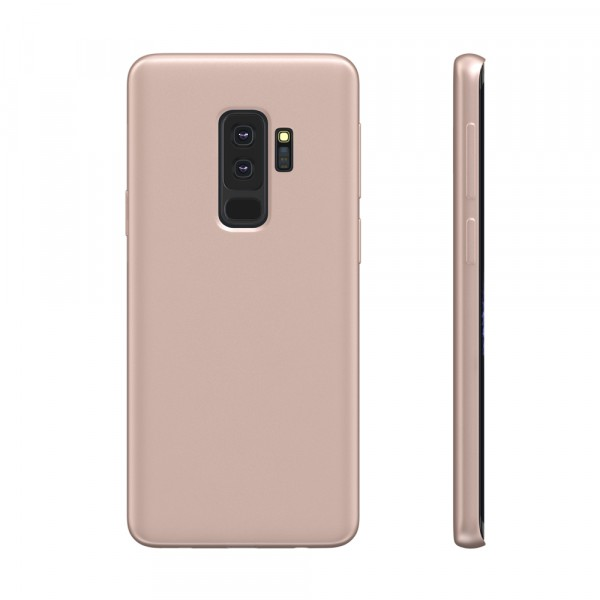 BeHello Premium Liquid Silicon Case Roze voor Samsung Galaxy S9+