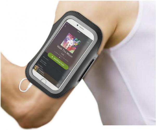 BeHello Universele Sportarmband XXL Zwart/Zwart (voor o.a. iPhone 11 Pro, iPhone Xs, Samsung Galaxy