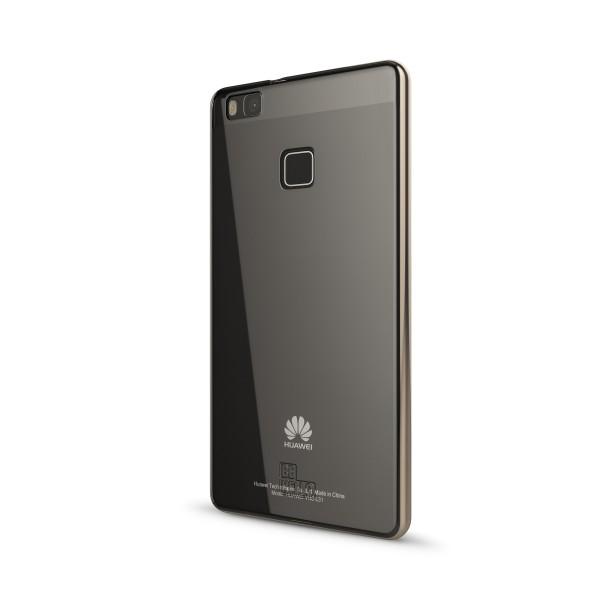 BeHello Huawei P9 Lite Transparant Gel Case chrome edge Gold