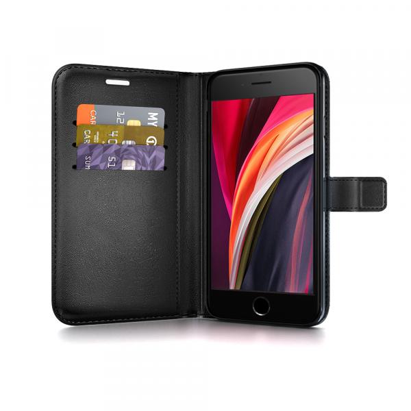 BeHello iPhone SE (2020) / 8 / 7 / 6s Gel Wallet Case Zwart