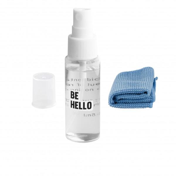 BeHello Schoonmaakset met Spray 100 ml en Doekje geschikt voor Laptop Telefoon Smartphone Tablet