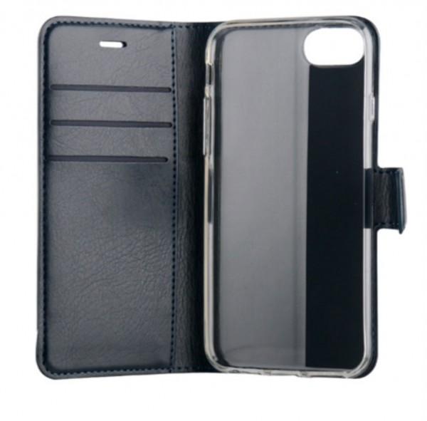 BeHello iPhone 8 7 6s 6 Hoesje - Gel Wallet Case Met Ruimte Voor 3 Pasjes Blauw