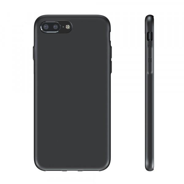 BeHello Premium Liquid Silicon Case Zwart voor iPhone 8 Plus 7 Plus