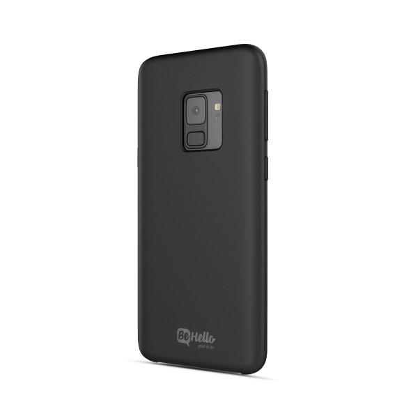 BeHello Premium Liquid Silicon Case Zwart voor Samsung Galaxy S9
