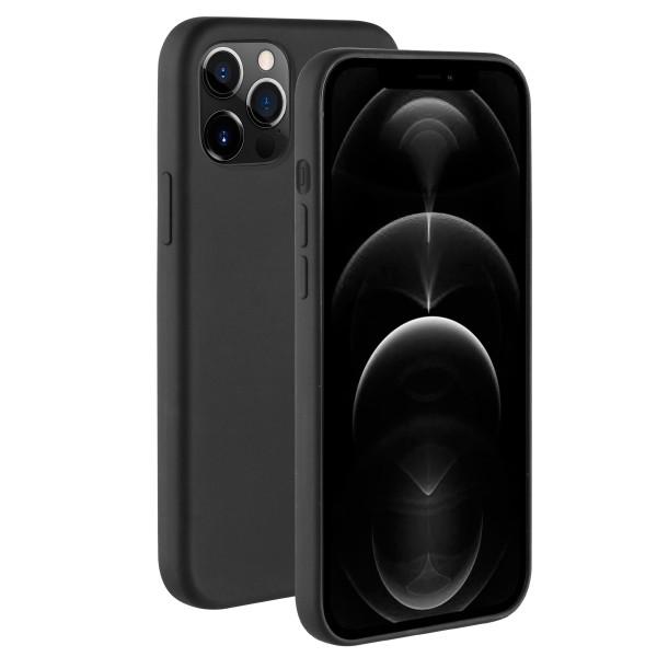 BeHello iPhone 12 Pro Max Liquid Siliconen Hoesje - Zwart