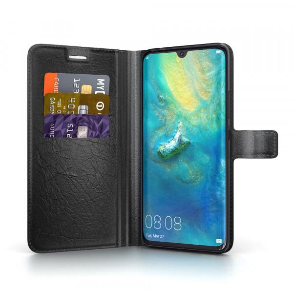 BeHello Huawei Mate 20 Hoesje - Gel Wallet Case Met Ruimte Voor 3 Pasjes Zwart