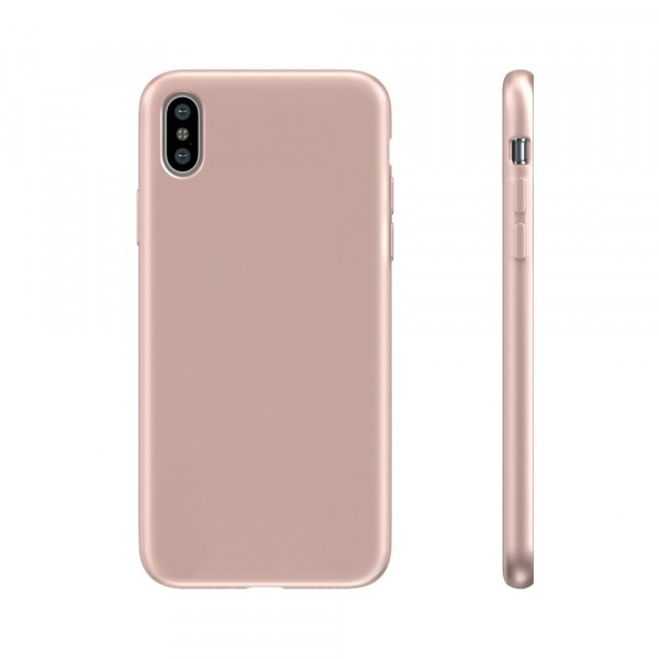BeHello Premium Liquid Silicon Case Roze voor iPhone Xs Max