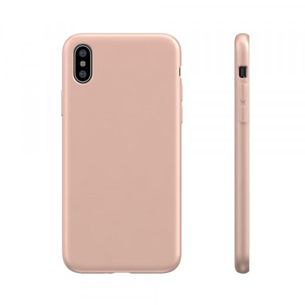 BeHello Liquid Silicon Case Roze voor iPhone X Xs
