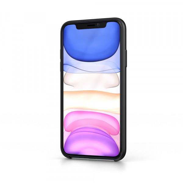 BeHello iPhone 11 Liquid Siliconen Hoesje - Zwart