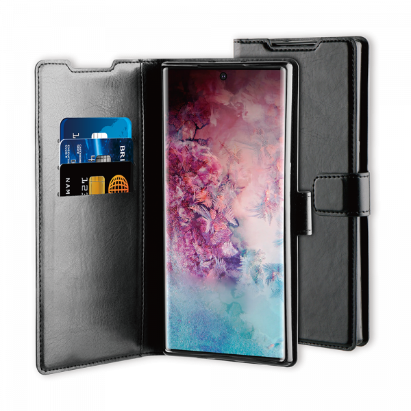 BeHello Samsung Galaxy Note10 Gel Wallet Case Black