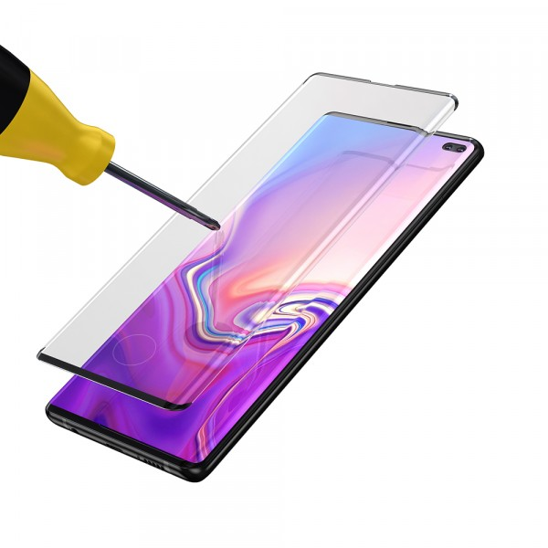 BeHello Samsung Galaxy S10+ Edge to Edge High Impact Glass Screen Protector Black
