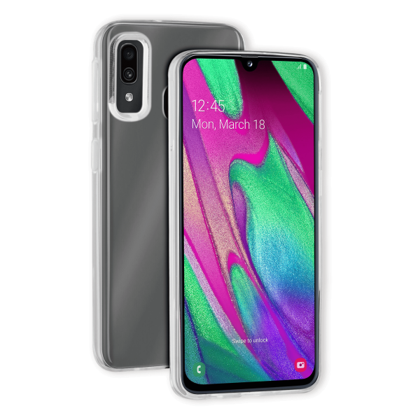 BeHello Samsung Galaxy A40 ThinGel Siliconen Hoesje Transparant