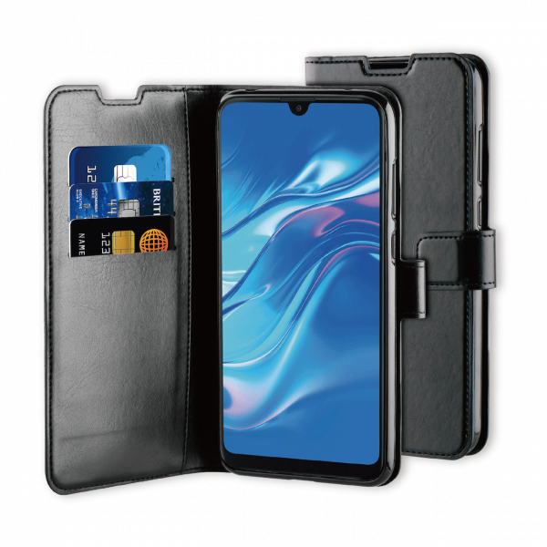 BeHello Huawei Y7 (2019) Gel Wallet Case Black