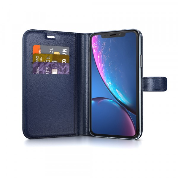 BeHello Gel Wallet Case Blauw voor iPhone Xr
