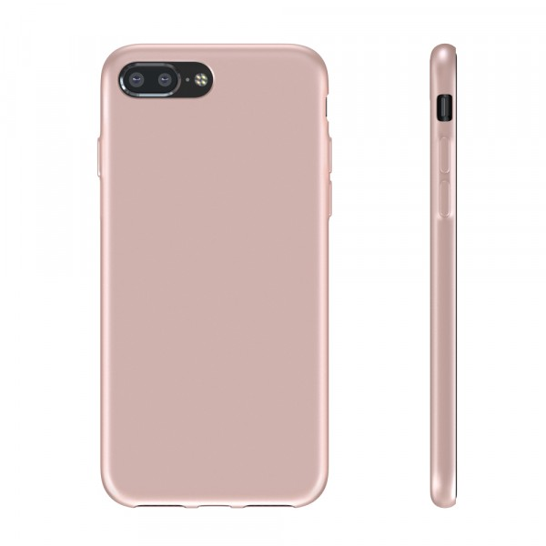 BeHello Premium iPhone 8 Plus 7 Plus Siliconen Hoesje Roze