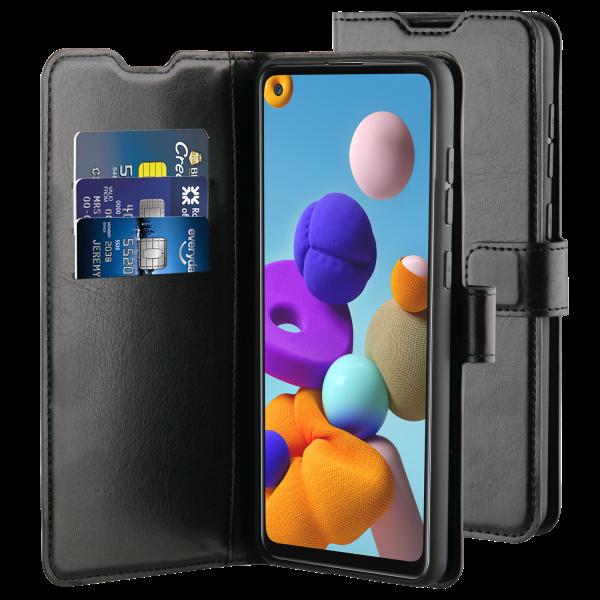 BeHello Samsung Galaxy A21s Gel Wallet Case Zwart - Portemonneehoesje
