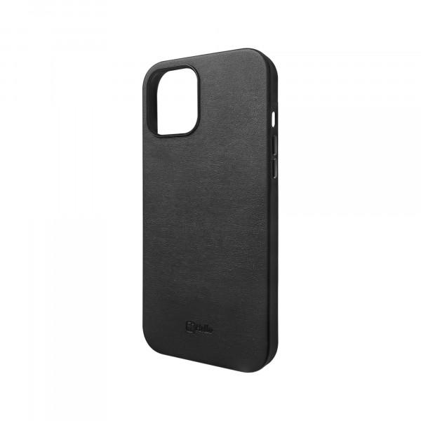 BeHello iPhone 12 Pro Max Leren Hoesje - Zwart
