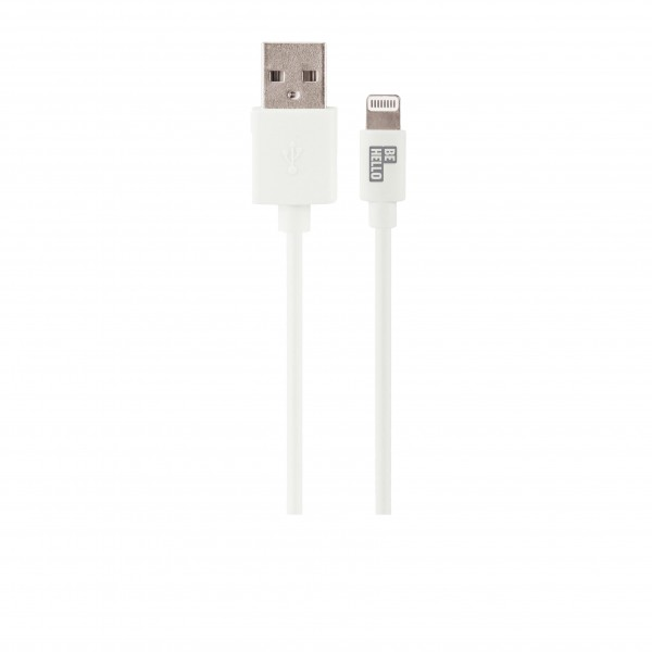 BeHello Charge and Sync Cable - Lightning (0.15m) White