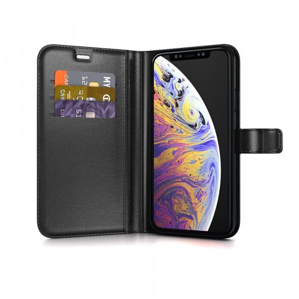BeHello iPhone XS Max Hoesje - Gel Wallet Case Met Ruimte Voor 3 Pasjes - Zwart