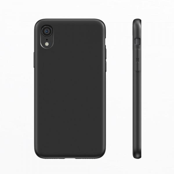 BeHello Premium iPhone Xr Liquid Siliconen Hoesje - Zwart