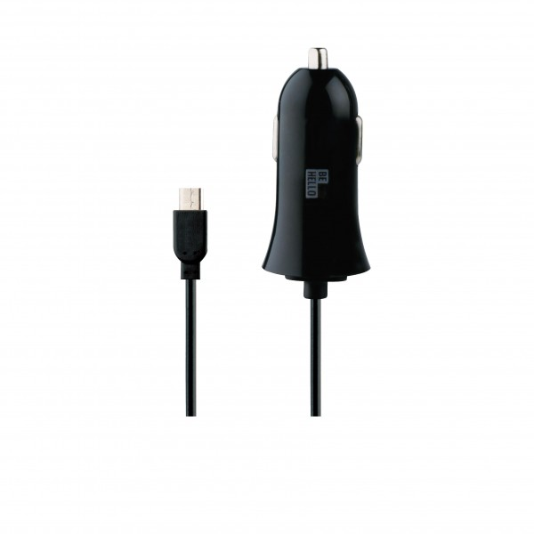 BeHello Car Charger Wired Micro USB 1.2m 2.1A Black